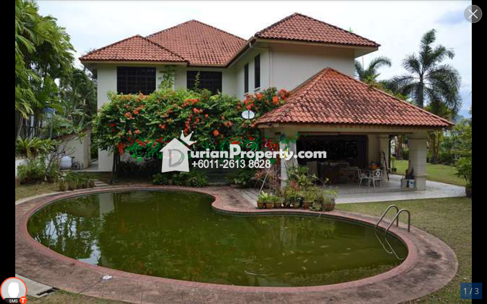 Bungalow house for sale at lake garden seremban for rm for Garden pool bungalow