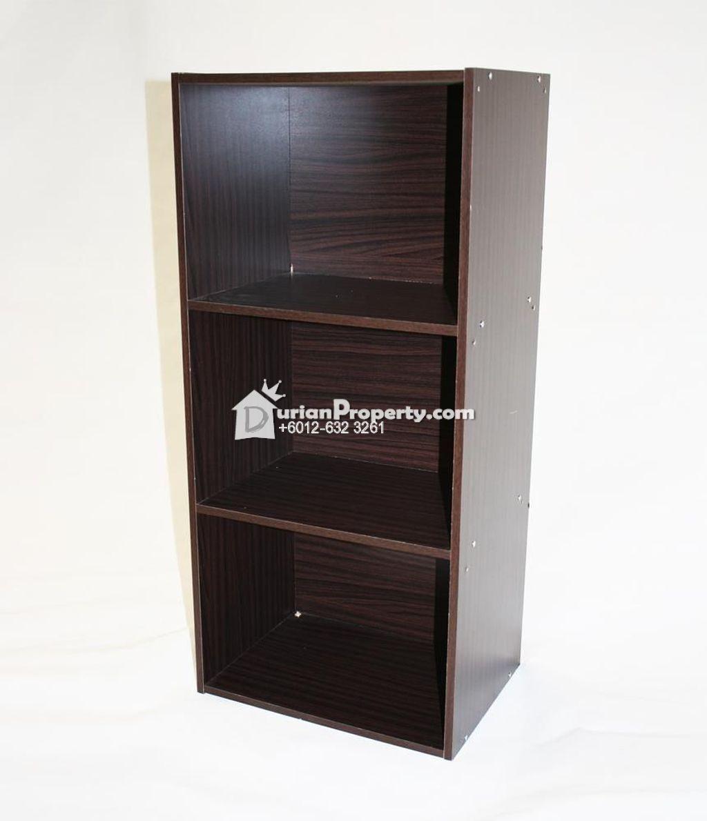 3 Tier Shelf Unit Beech Effect / Shelf Book For Sale