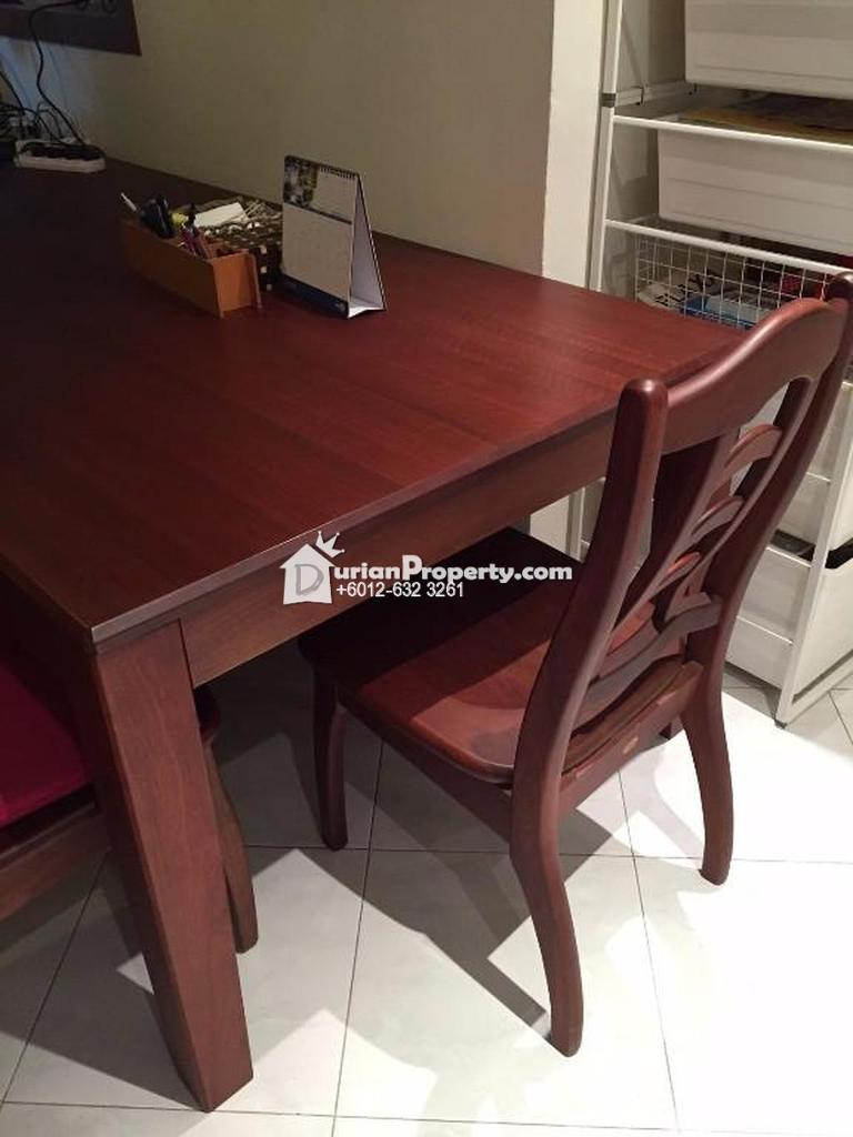 Big Dining table + 8 chairs For Sale