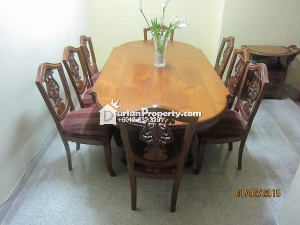 Genuine Teak Dining Table - with free 8 chairs For Sale