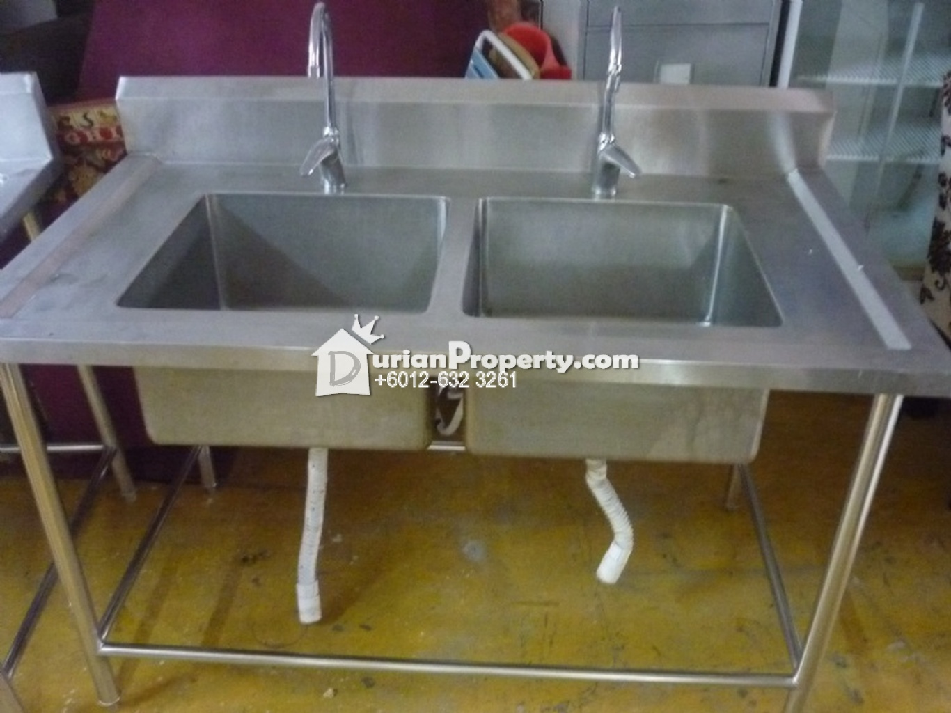 Stainless Steel Equipment-Stainless Steel 2 Tank Water Basin with Tap For Sale