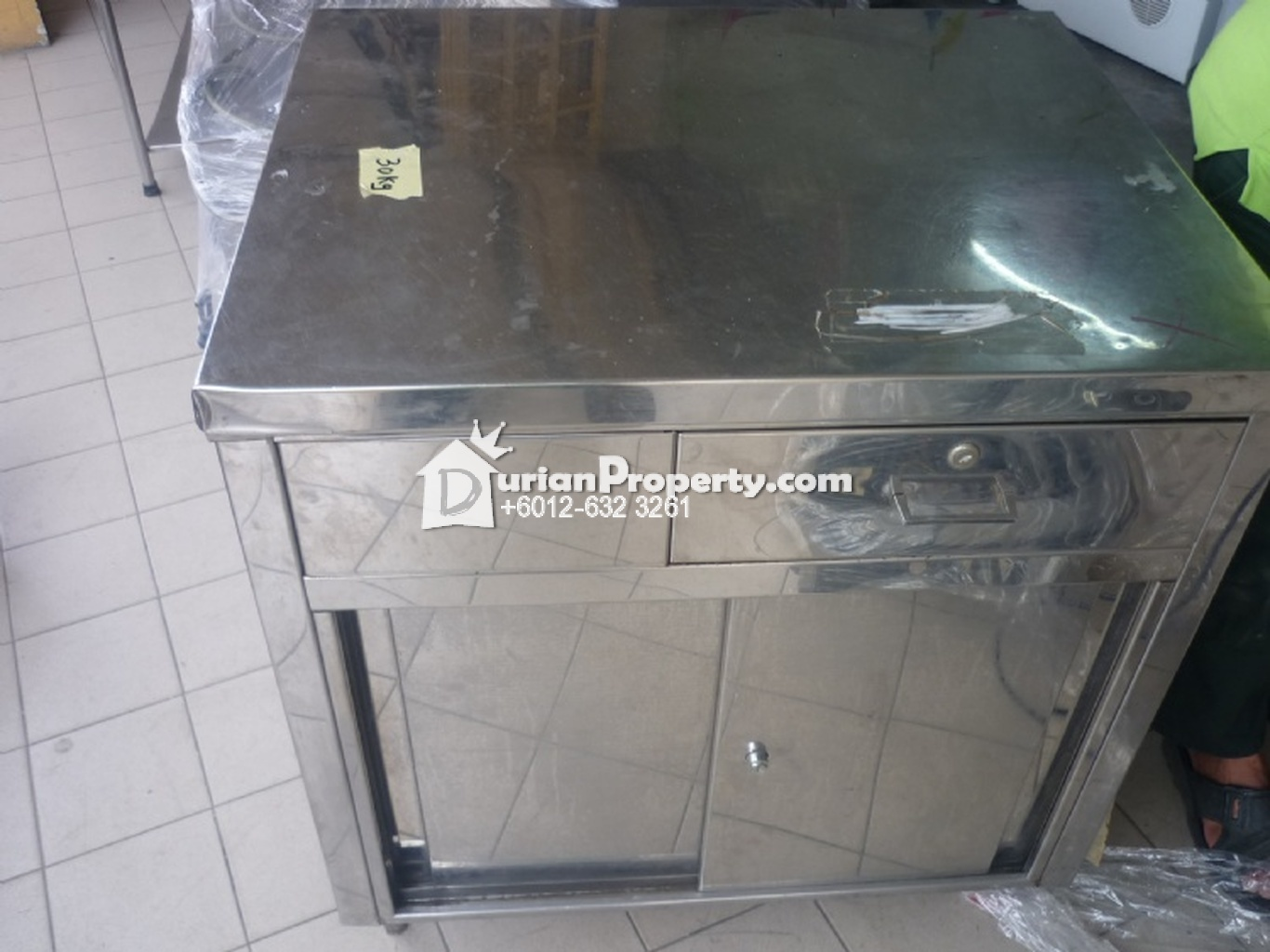 Stainless Steel Counter Table with Drawer For Sale