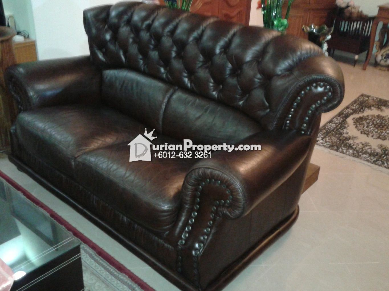 Rosary fully British leather sofas For Sale