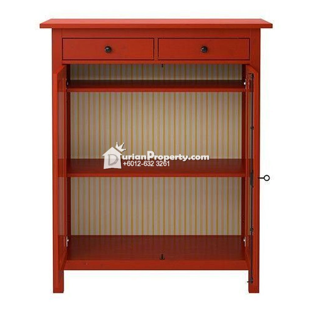 Hemnes Linen Cabinet Red For Sale