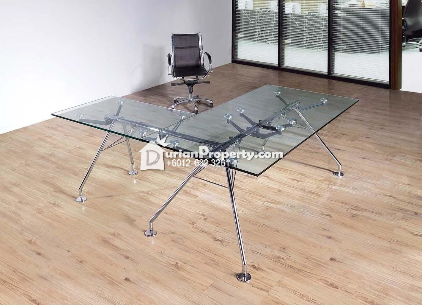 Premium-Quality Glass Office Table and Executive Chair For Sale