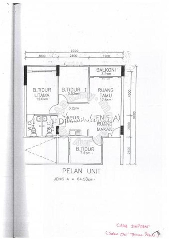 Flat For At Casa Impian Jelutong