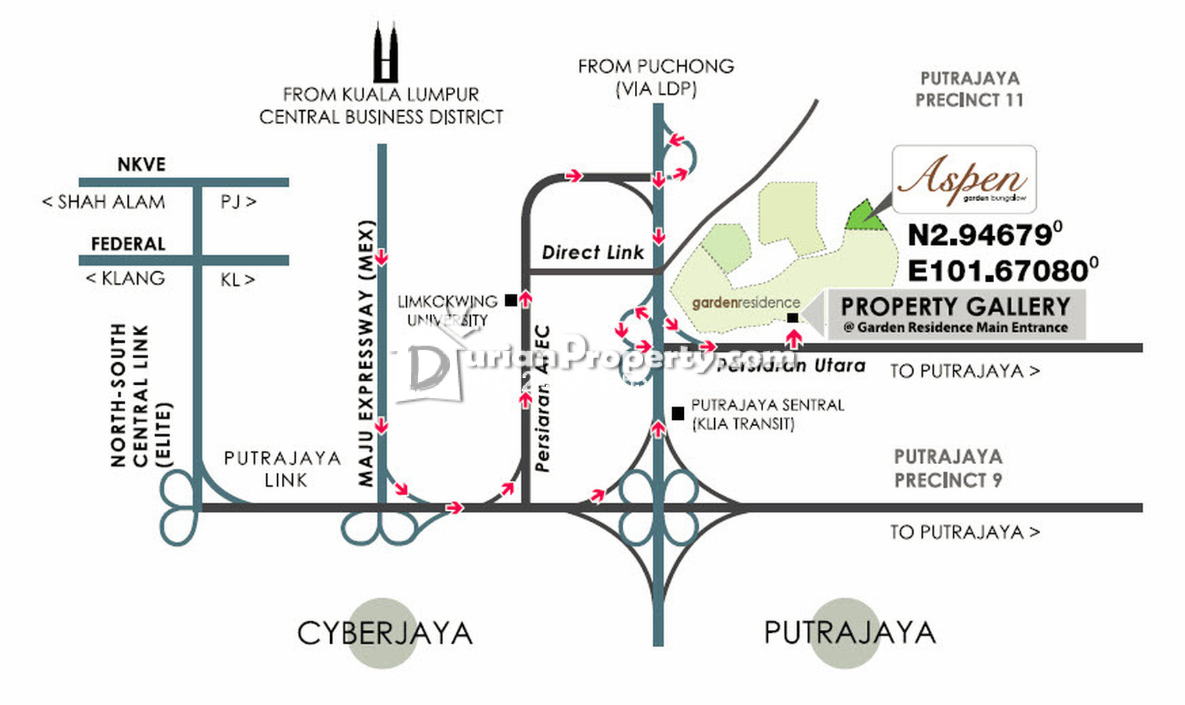 Link Bungalow For Sale At Garden Residence Cyberjaya For