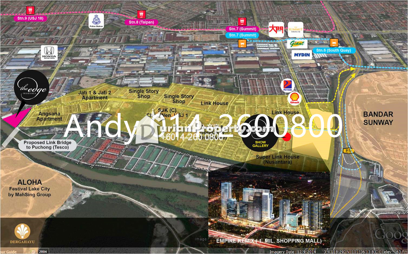 Serviced Residence For Sale At The Edge Residence USJ  For RM - Usj 1 location map