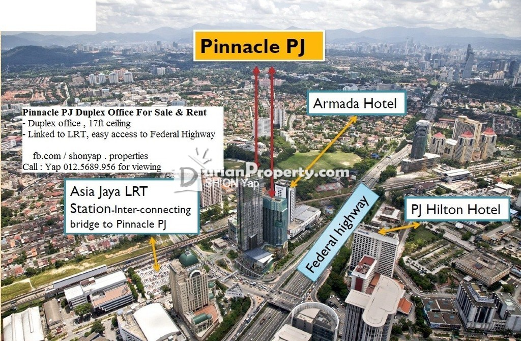 Map Of Asia Jaya Lrt Station.Office For Rent At Pinnacle Petaling Jaya For Rm 3 000 By Sh On Yap