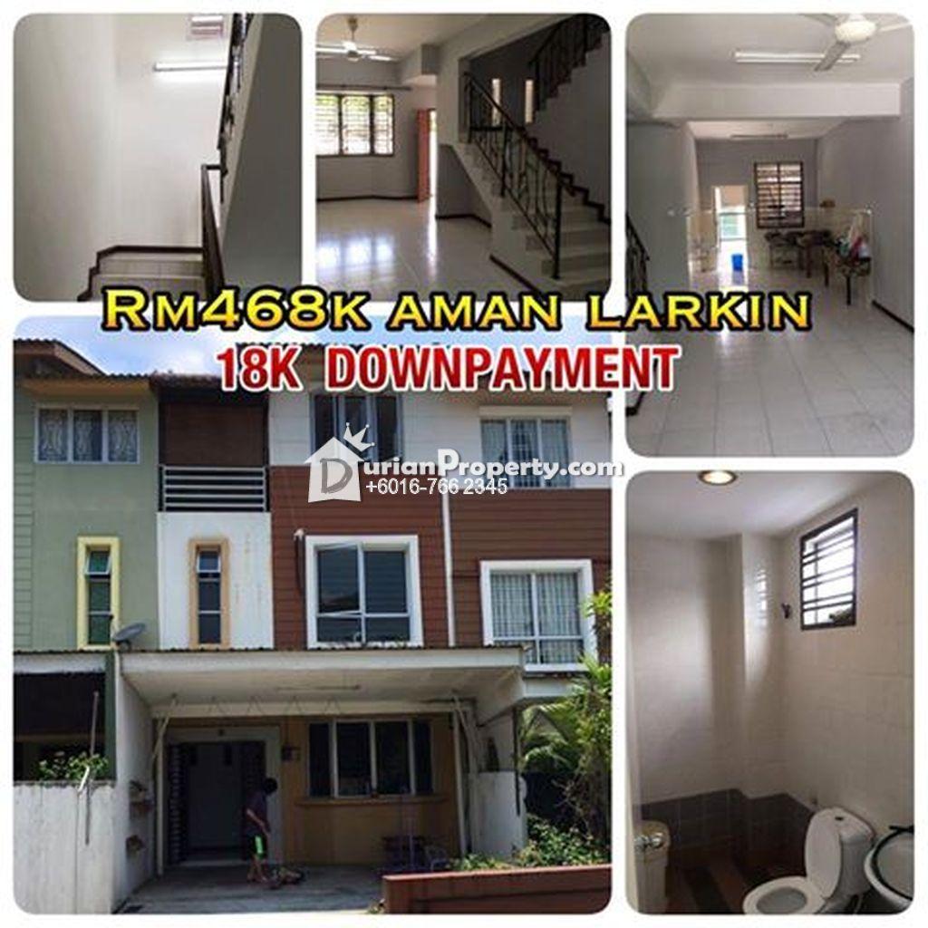 Terrace House For Sale At Taman Aman Larkin, Johor Bahru