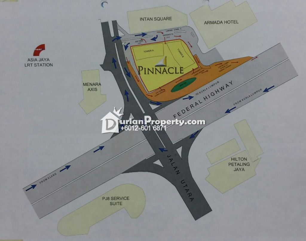 Map Of Asia Jaya Lrt Station.Office For Rent At Pinnacle Petaling Jaya For Rm 2 600 By Joloh88