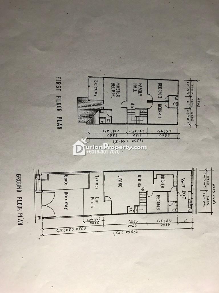 Terrace House For Rent at Taman Puchong Utama, Puchong