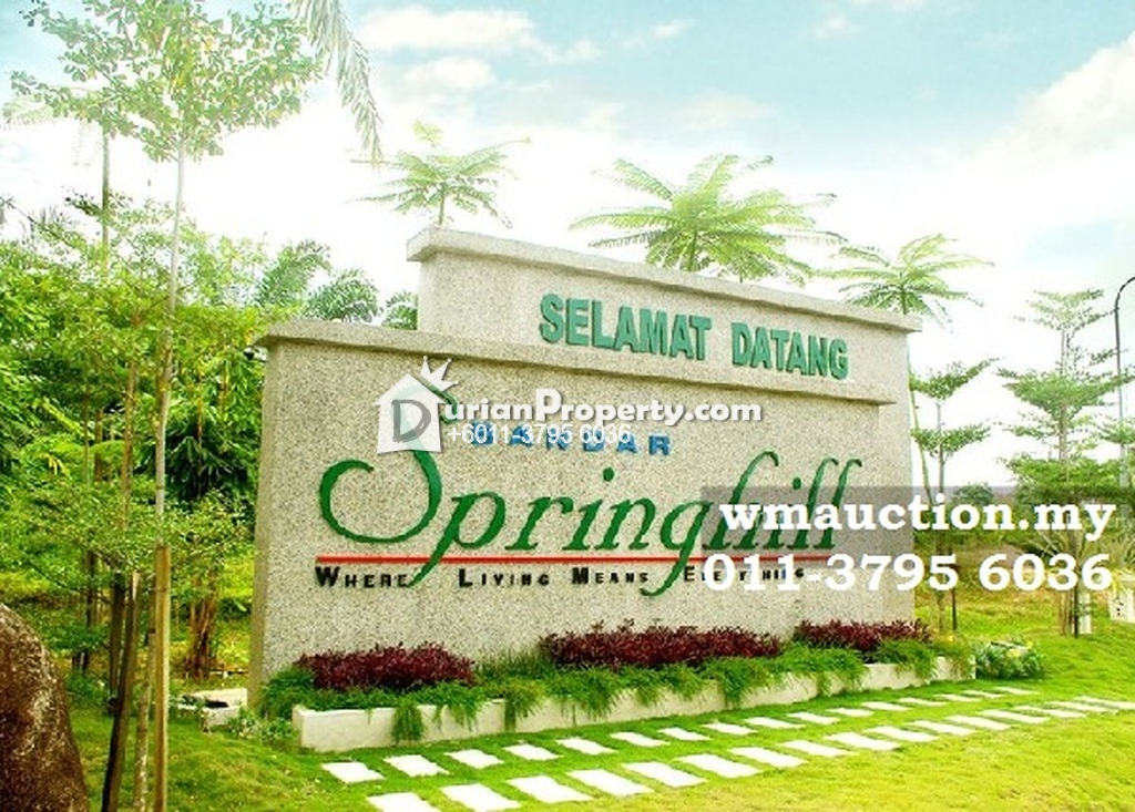 Terrace House For Auction at Bandar Springhill, Port Dickson
