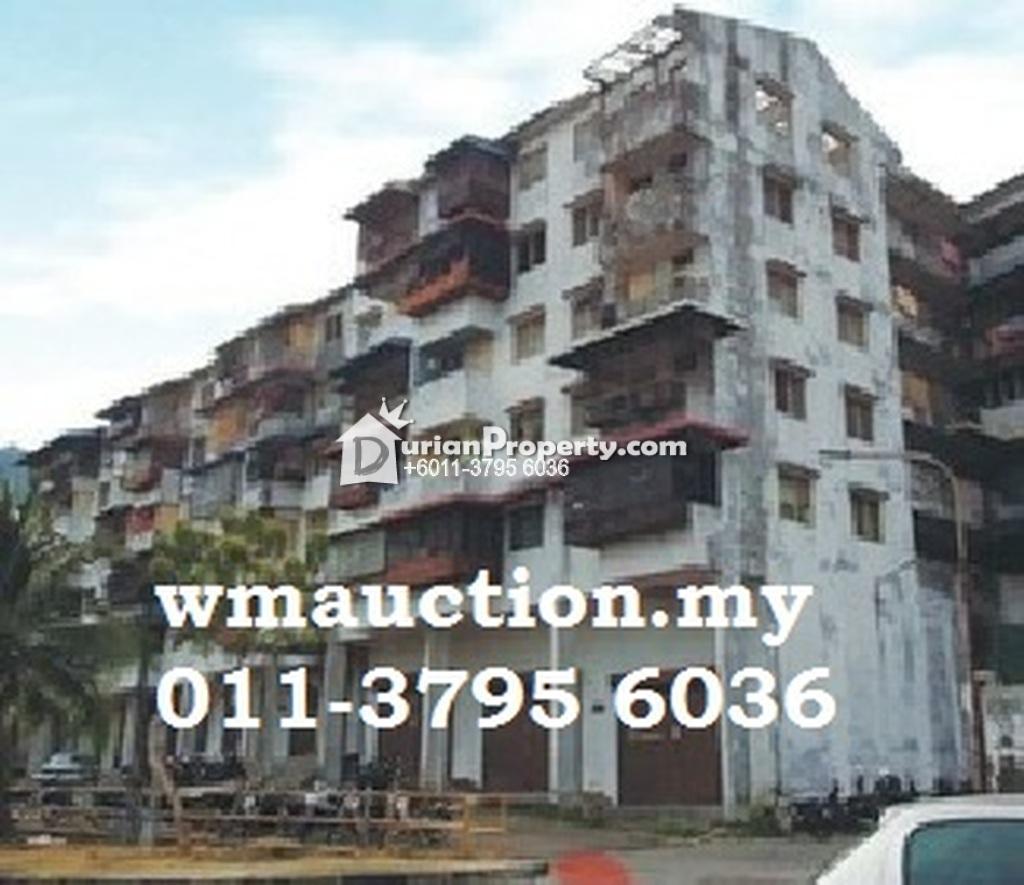 Flat For Auction at Taman Sri Gertak Sanggul, Teluk Kumbar