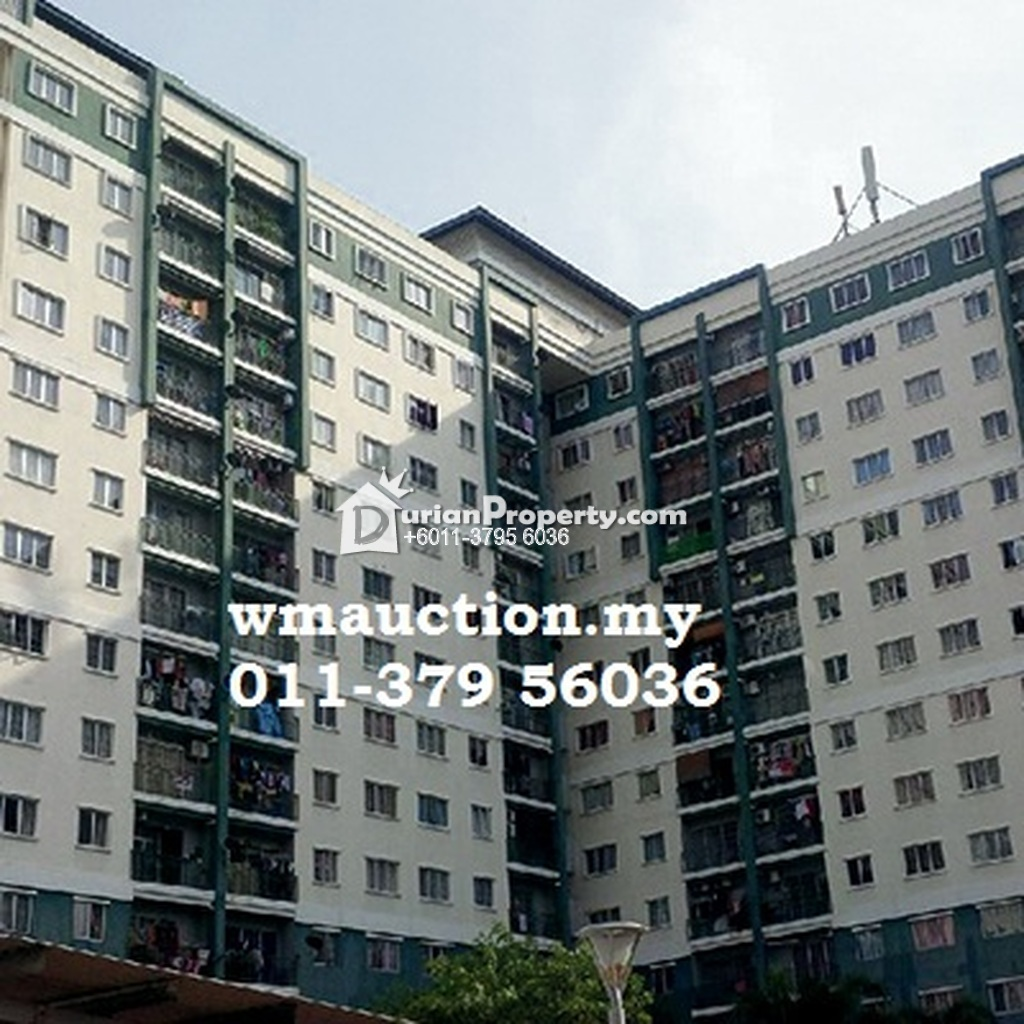 Apartment For Auction at Pangsapuri Angsana, Taman Raintree
