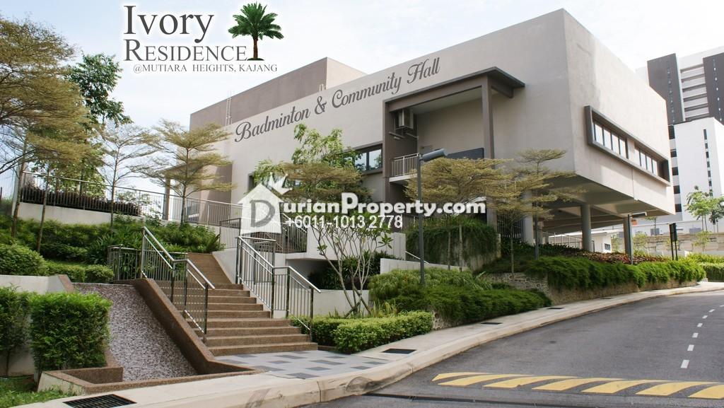 Condo For Rent At Ivory Residence Mutiara Heights Kajang