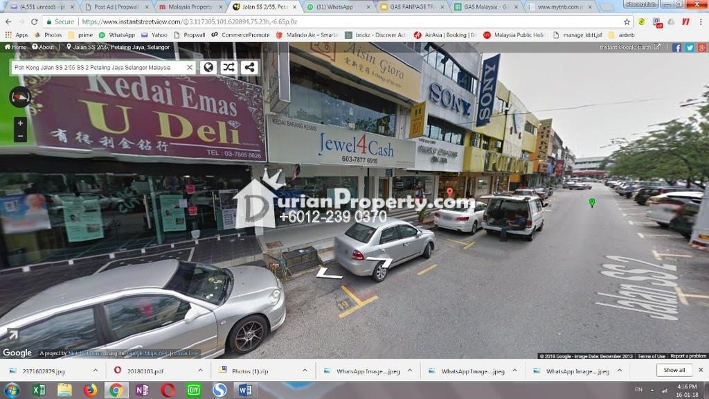 Shop For Sale at SS2, Petaling Jaya