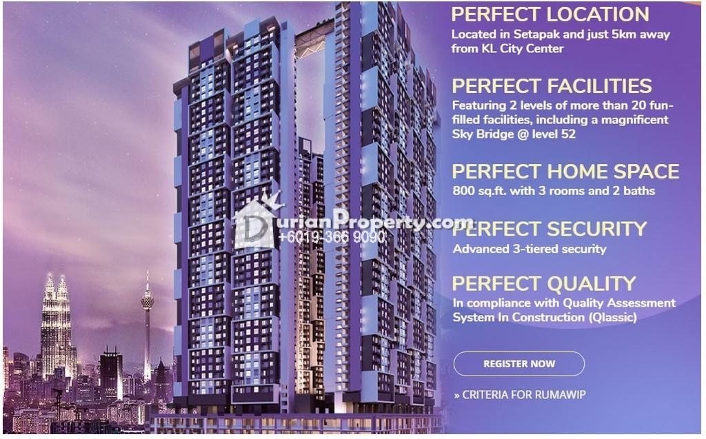 Condo For Sale at Sky Awani 3, Setapak