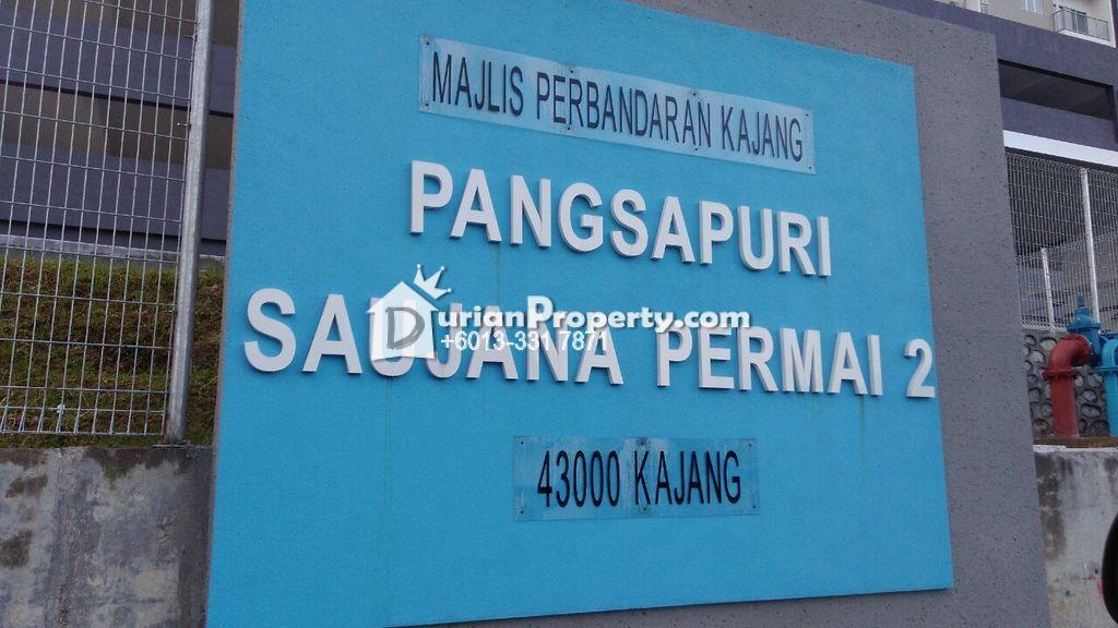 Apartment For Sale at Apartment Saujana Permai 2, Kajang