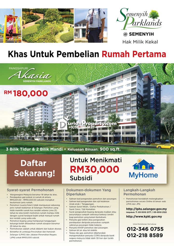 Apartment For Sale At Semenyih Parklands Semenyih For Rm 180 000 By Amalan Setar M Sdn Bhd Durianproperty