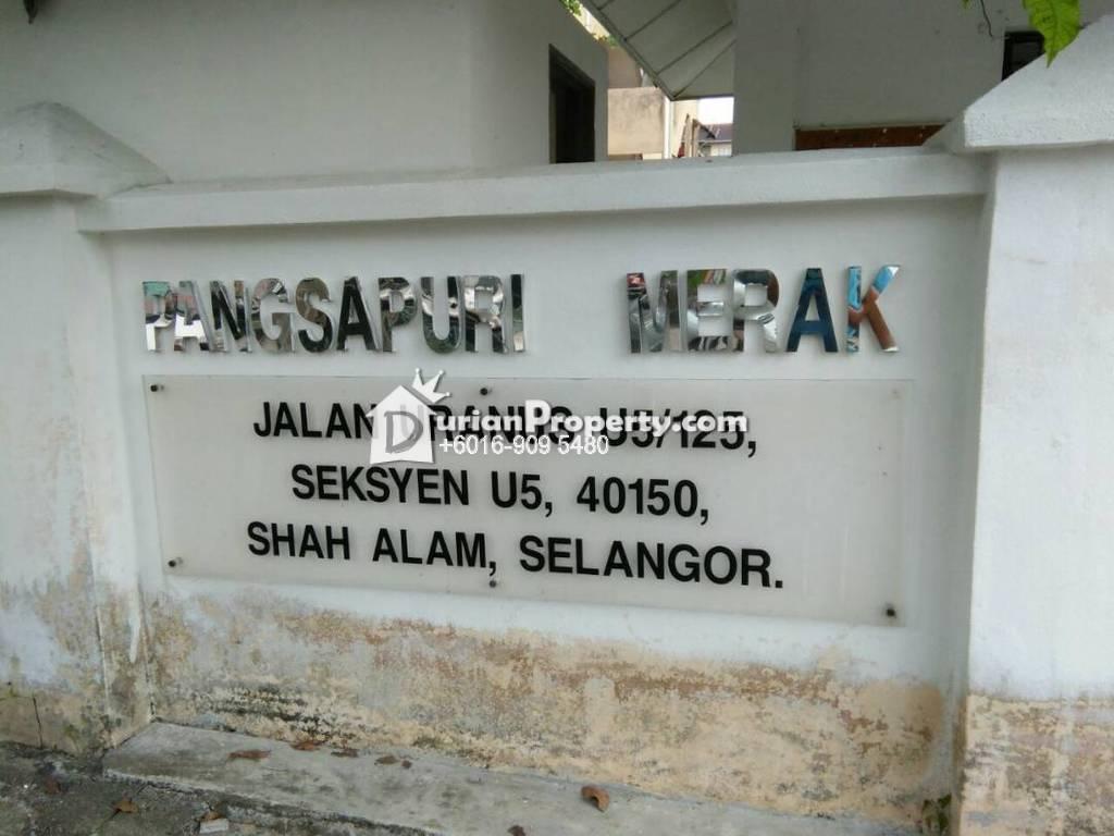 Apartment For Sale at Merak Apartment, Shah Alam