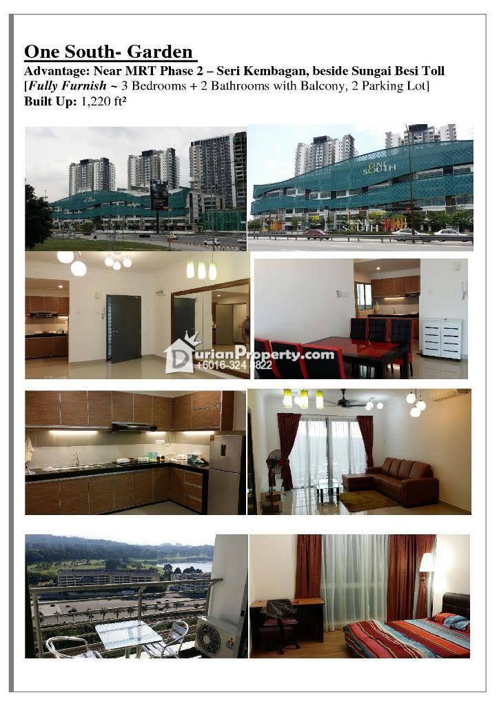 Serviced Residence For Sale at Gardenz @ One South, Seri Kembangan