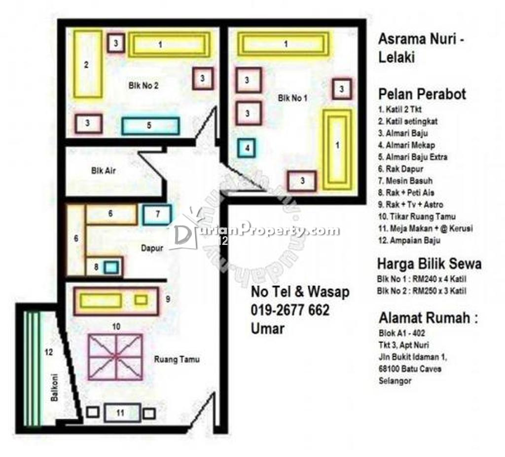 Apartment For Rent at Taman Bukit Idaman, Selayang