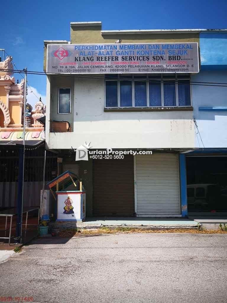 Shop Office For Auction at Port Klang, Klang