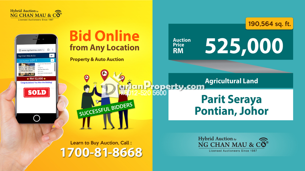 Agriculture Land For Auction at Benut, Johor