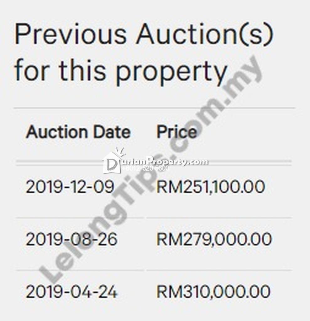 Terrace House For Auction at Antara Gapi, Serendah