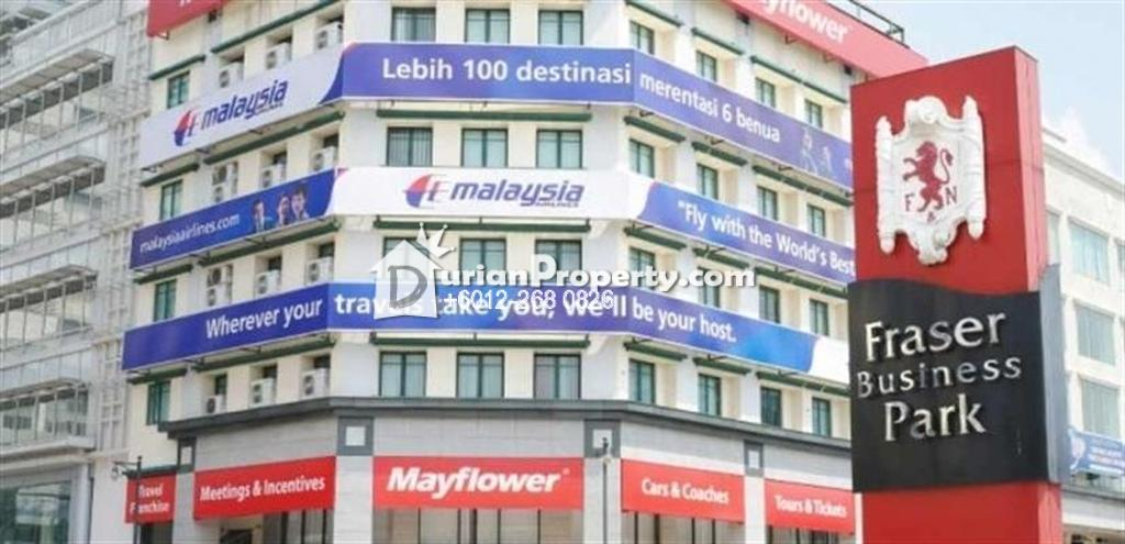 Shop For Rent at Fraser Business Park, Pudu