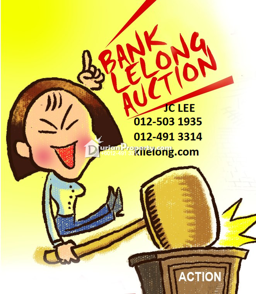 Flat For Auction at Pangsapuri Pelangi, Georgetown