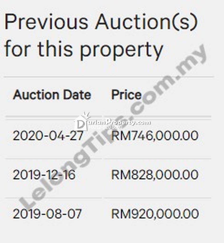 Terrace House For Auction at Mutiara Villa, Kajang