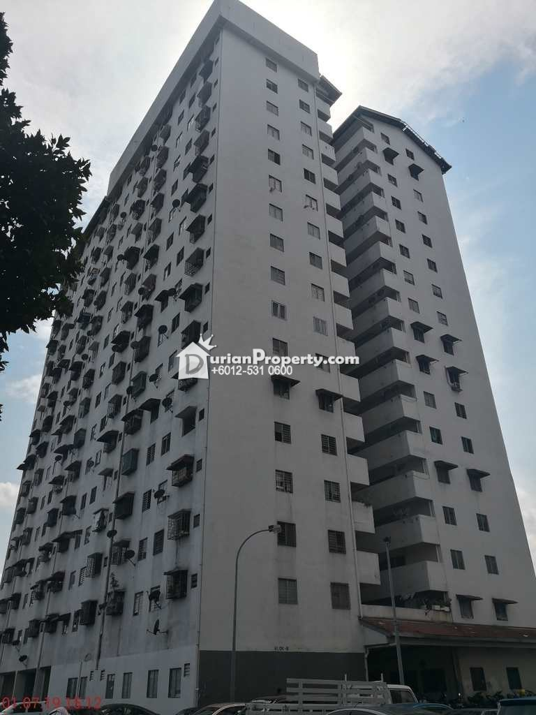 Flat For Auction at Pangsapuri Rimba, Shah Alam