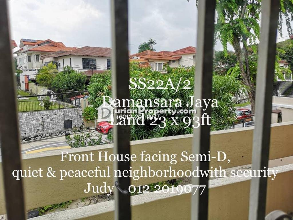 Terrace House For Sale at SS22, Petaling Jaya