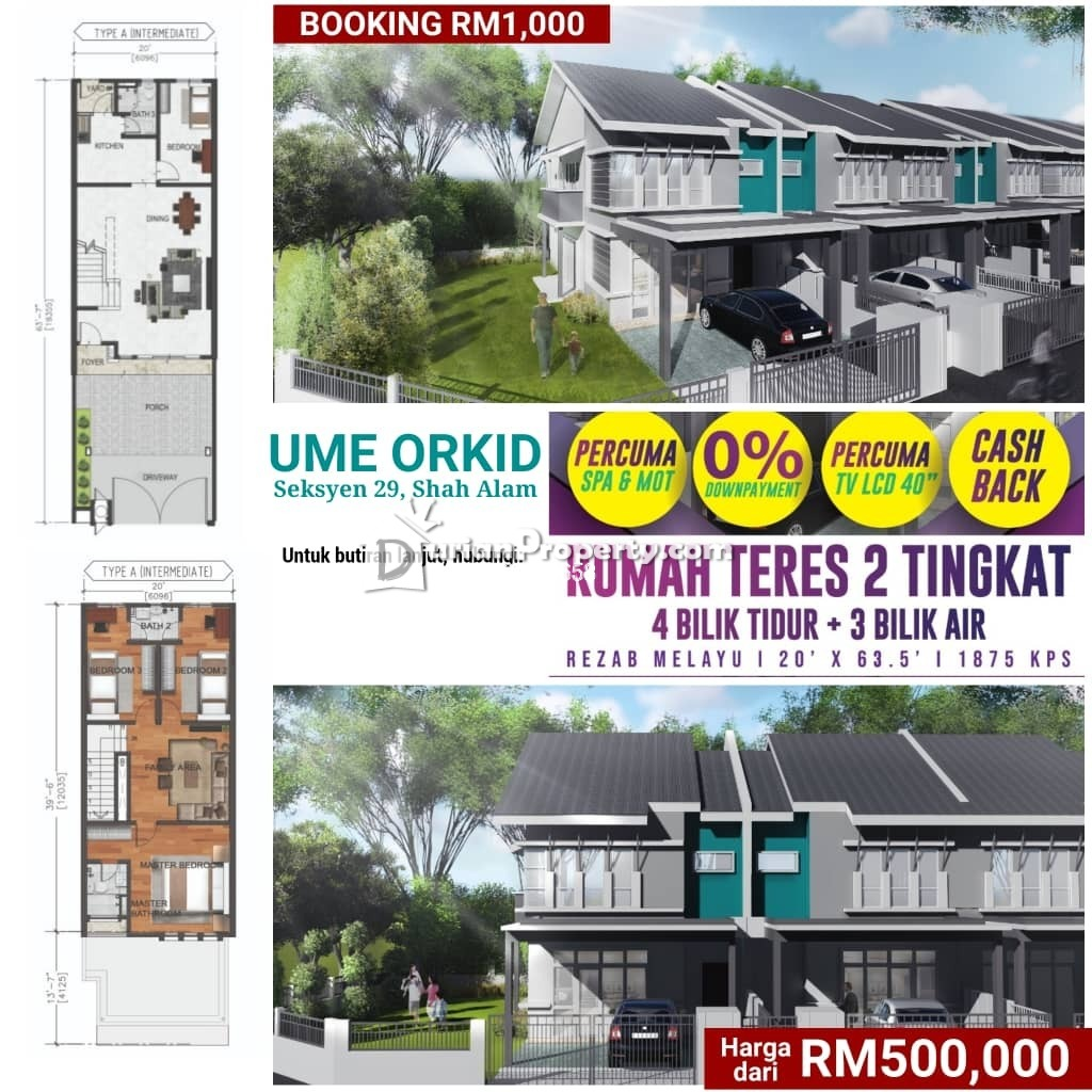 Terrace House For Sale at UME Orkid, Shah Alam
