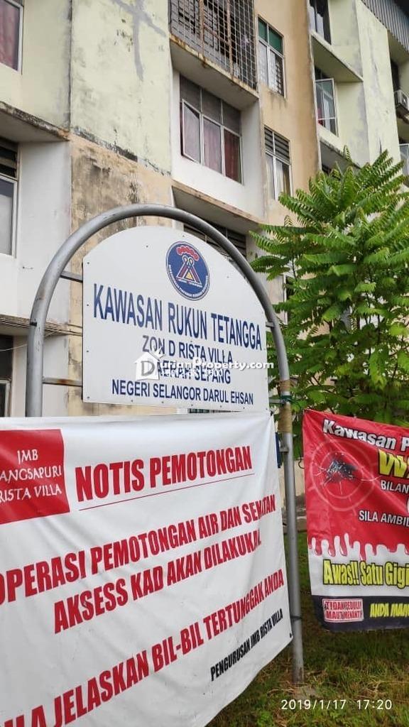 Flat For Auction at Rista Villa Apartment, Taman Putra Perdana