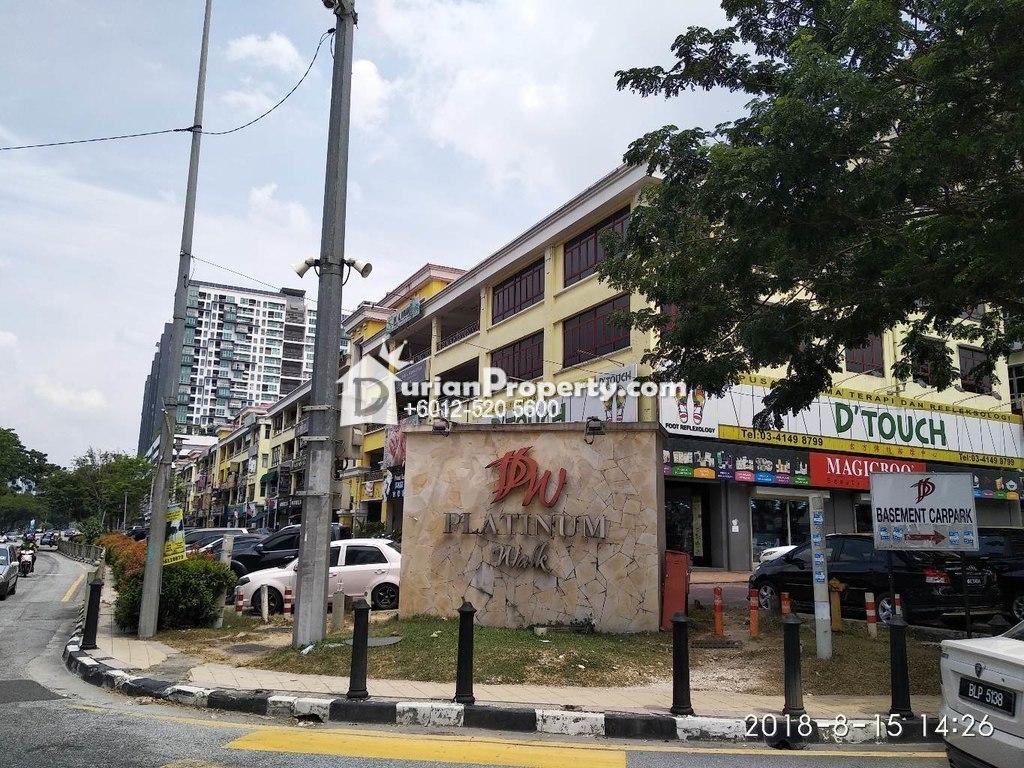 Shop Office For Auction at Platinum Walk, Setapak