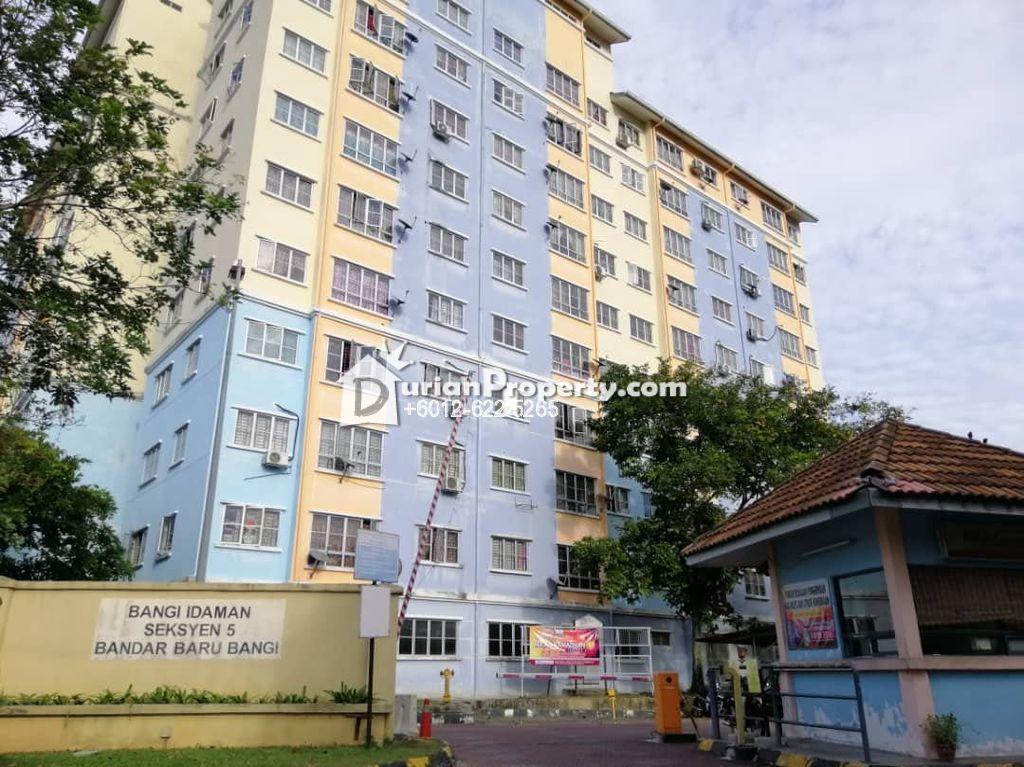 Apartment For Sale at Bangi Idaman Apartment, Bandar Baru Bangi