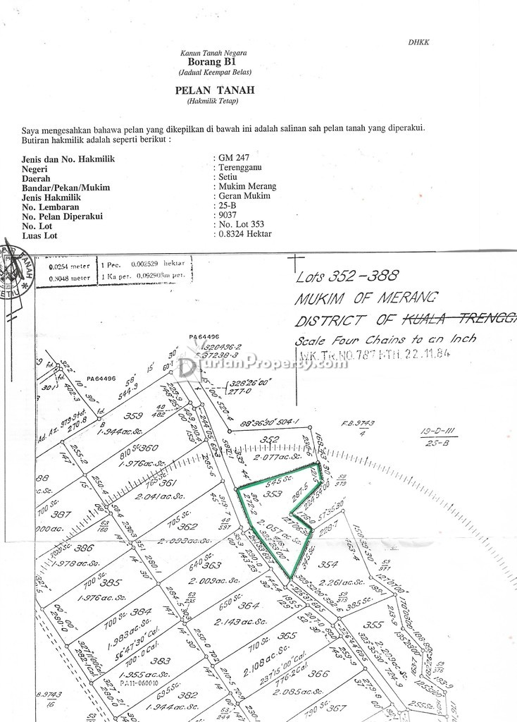 Residential Land For Sale at Setiu, Terengganu