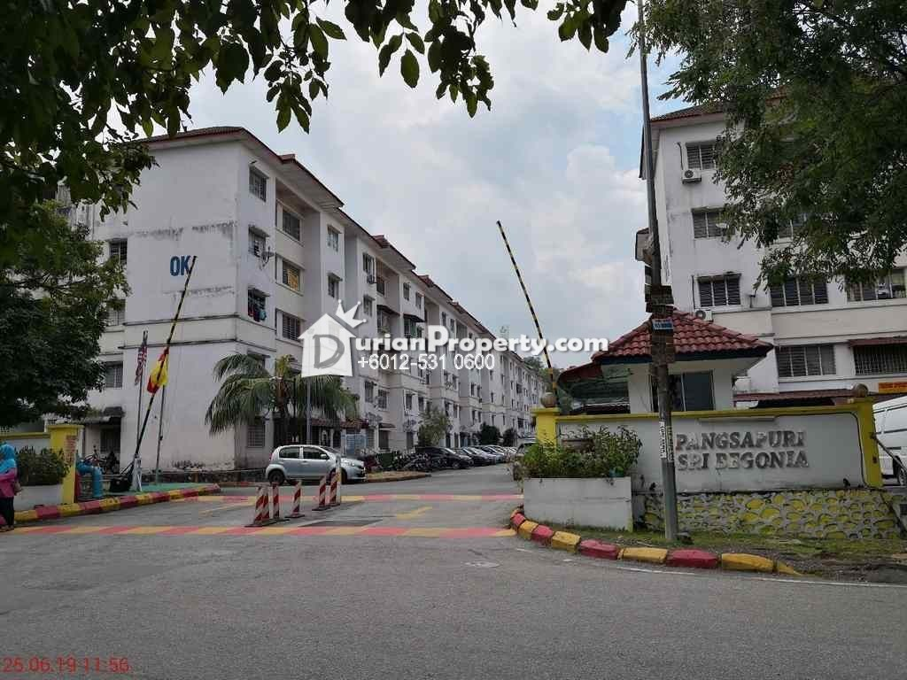 Apartment For Auction at Sri Begonia Apartment, Bandar Puteri Puchong
