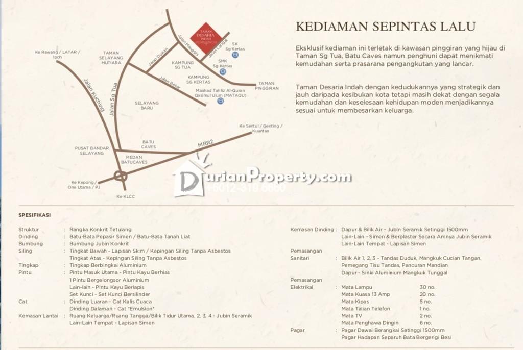 Semi D For Sale at Gombak Grove, Batu Caves
