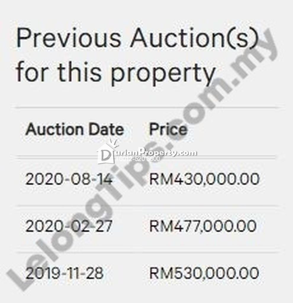 Terrace House For Auction at Jalan Laman Delfina, Nilai