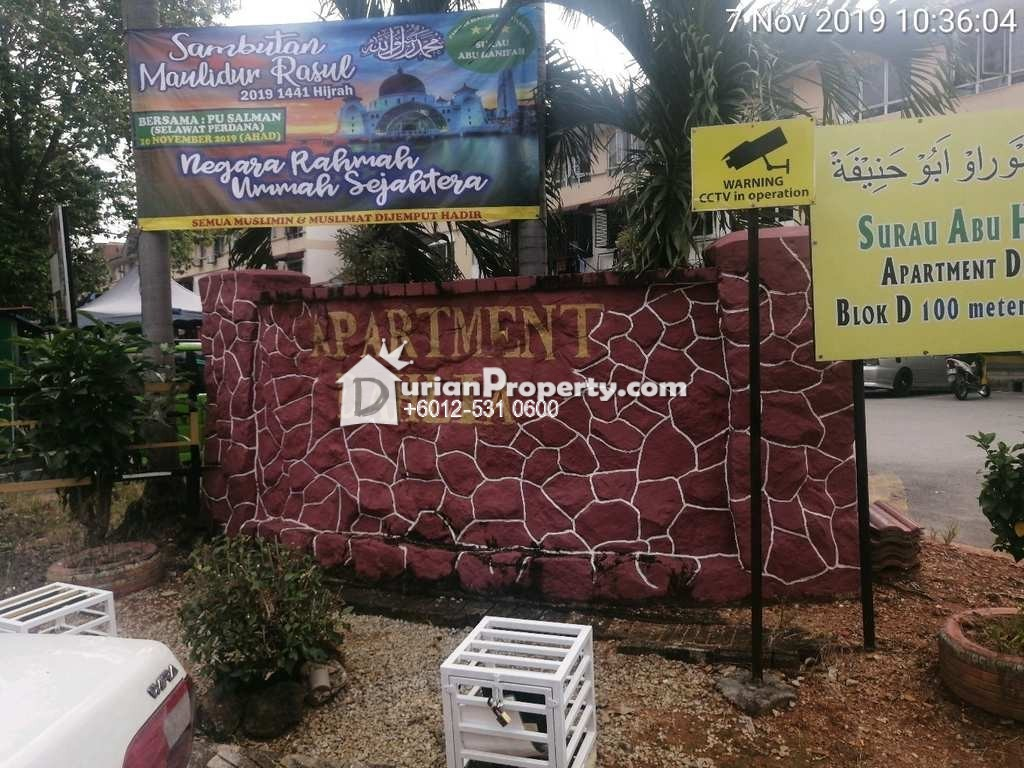 Apartment For Auction at Apartment Dahlia, Rawang