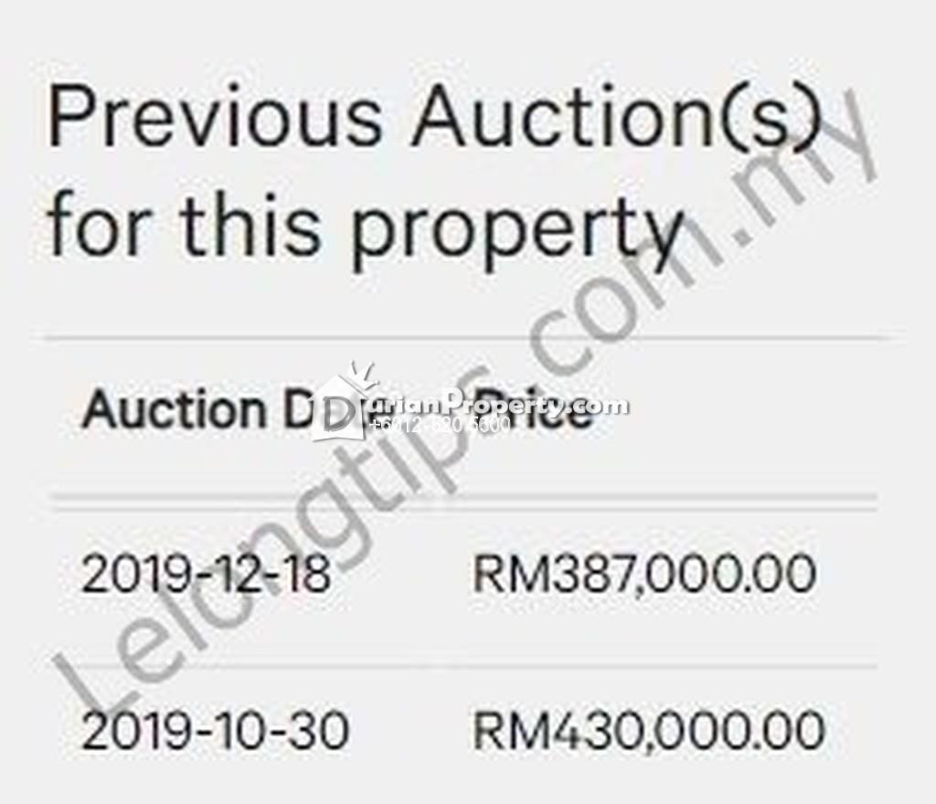 Condo For Auction at Diamond Regency, Setapak