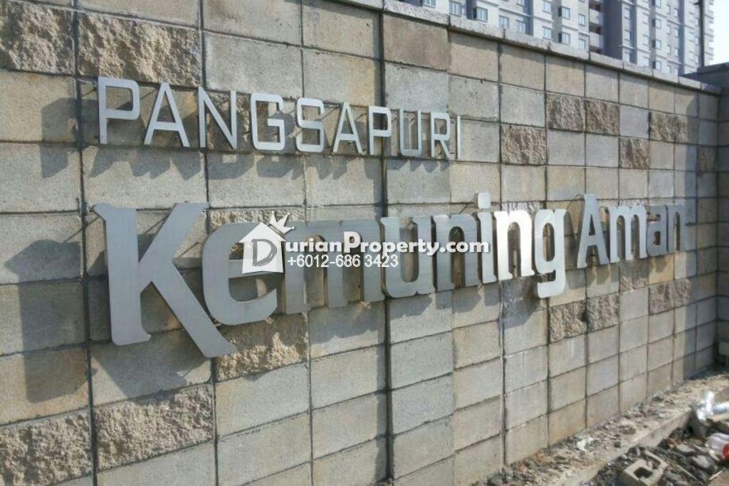 Apartment For Sale at Pangsapuri Kemuning Aman, Shah Alam
