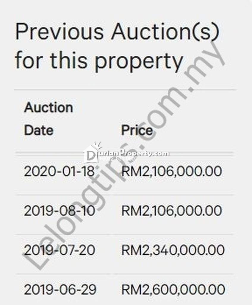 Semi D For Auction at Cyber 9, Cyberjaya