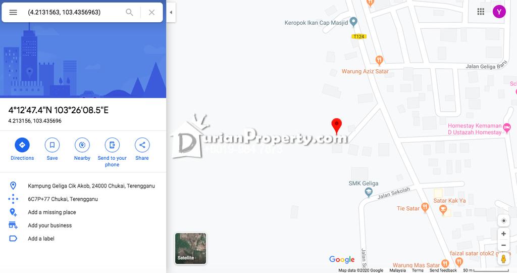 Semi D For Sale at Taman Geliga, Chukai