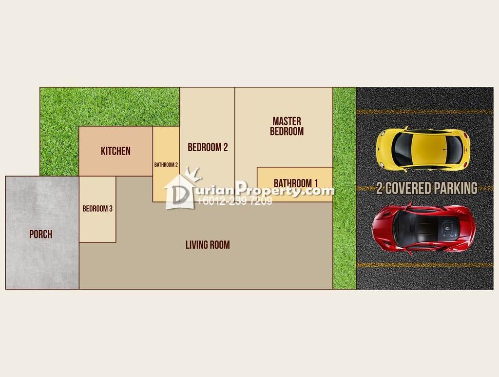 Townhouse For Rent at Taman Saujana Suria, Kajang