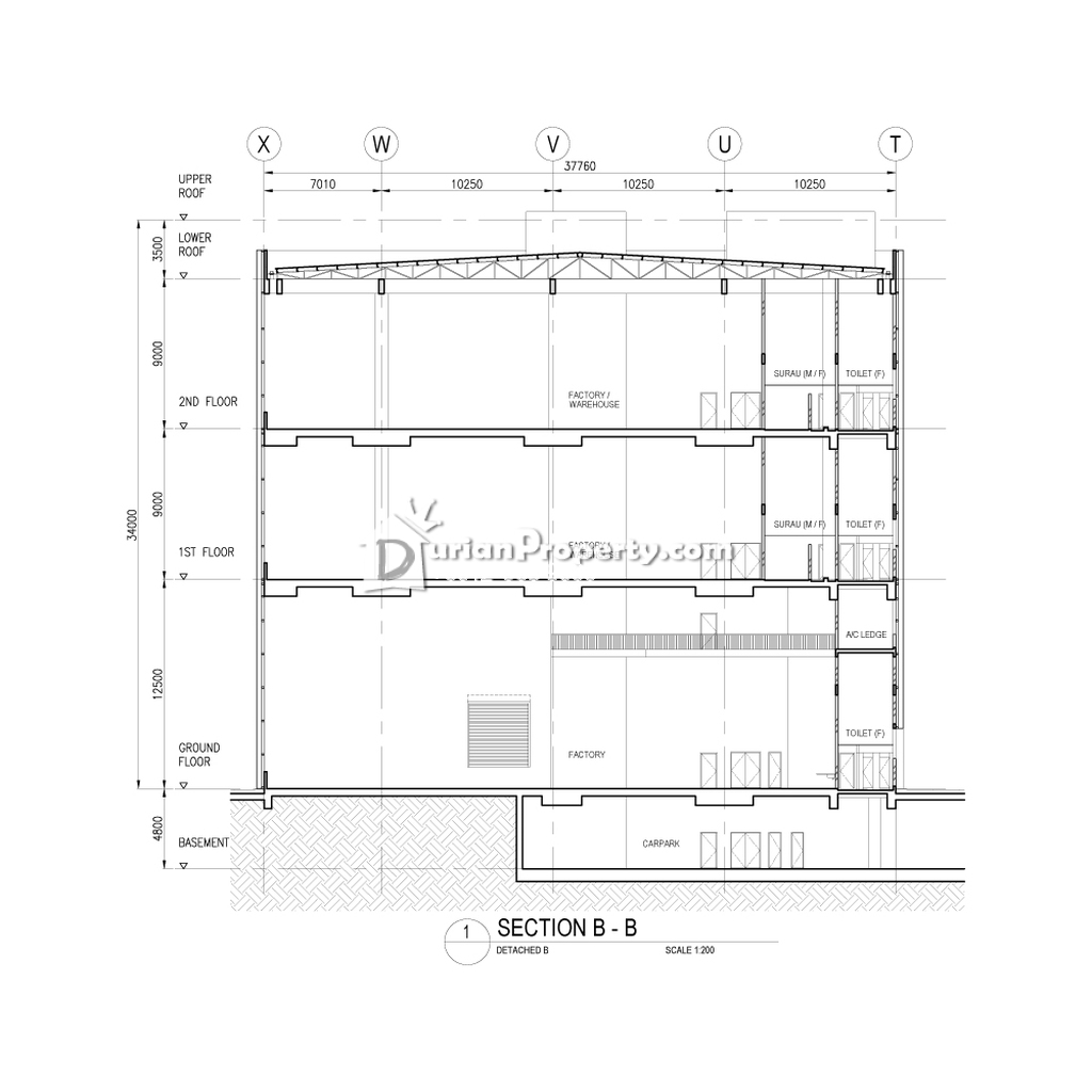 Detached Factory For Rent at Section 23, Shah Alam